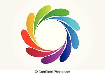 Splash water colorful logo vector