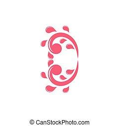 splash water love water logo vector