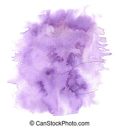 splash watercolor. watercolor abstract purple drop isolated blot for your design art