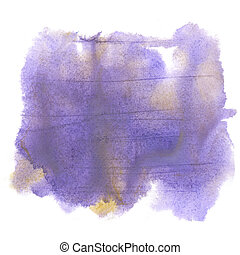 splash watercolor. watercolor purple abstract drop isolated blot for your design art