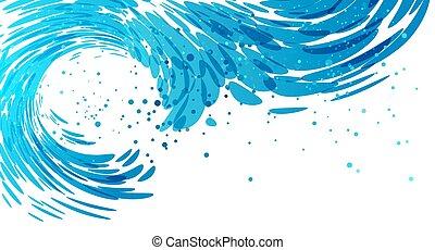 Splash wave background - Splashing wave on white background