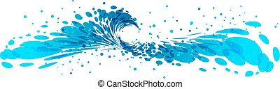 Splash wave - Splash of water isolated on white background