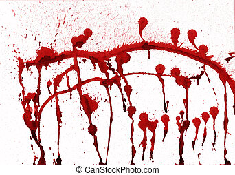 splashes of blood