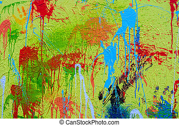 splashes of different colours on canvas