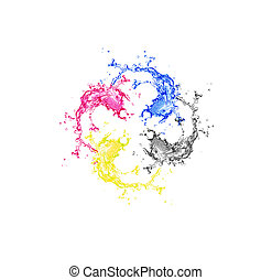 Splashes of four color