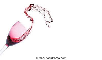 Splashes of red wine