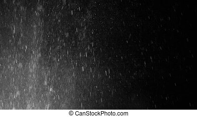 Splashes of water on a black background
