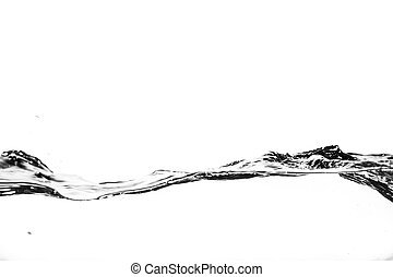 Splashes of water on a white background. Water jet.