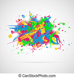 splashes., pintura, abstratos, fundo