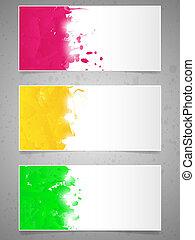 splashes., vernice, astratto, fondo
