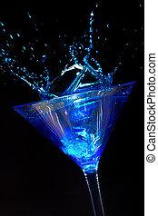 Splashing Blue Martini
