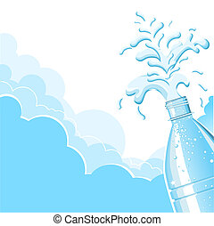 Splashing clean water.Vector  background for text