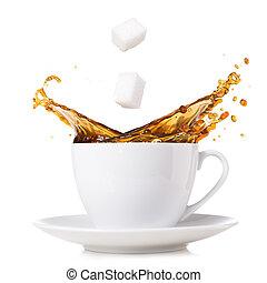 splashing coffee