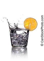 vodka - Splashing on vodka with lemon