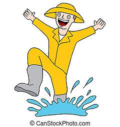 Splashing Puddle Man
