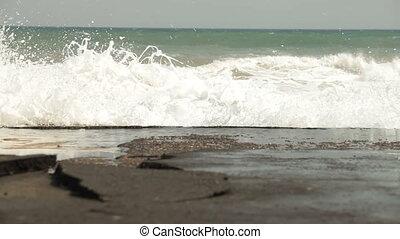 Splashing Stormy Waves