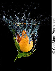 Splashing tangerine