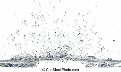 Splashing water 3D animation - Screen fills with the water...