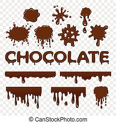 splat, kollektion, choklad