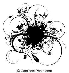 splat vine - Illustrated ink splat with room to add your own...