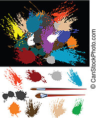 Splats silhouette - These are colorful vector splats ...