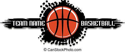 splatter, basketbal, ontwerp