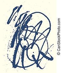 Splatter Black Ink Background.