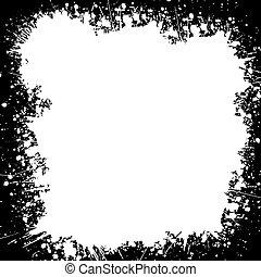Splatter style border