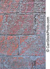 Splatter brick with cement