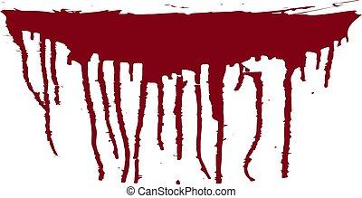 splatter., fläckar, fläck, isolerat, illustration, bakgrund., vektor, blod, blood.
