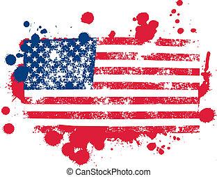Splatter Flag - united states flag splattered paint