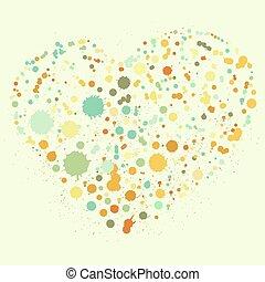 Splatter heart illustration
