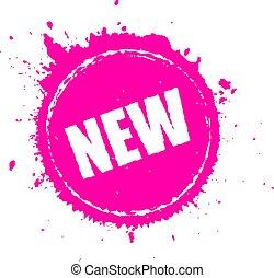 splatter, prodotto nuovo, vettore, icona