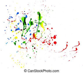 Splattered Art - Gorgeous multiple colors of paint splats.