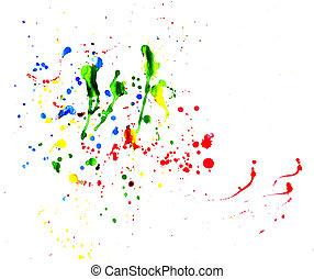 Splattered Art - Gorgeous multiple colors of paint splats.