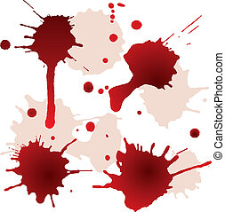 Splattered blood stains