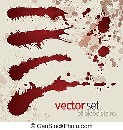 Splattered blood stains, set 10