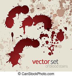 Splattered blood stains, set 2