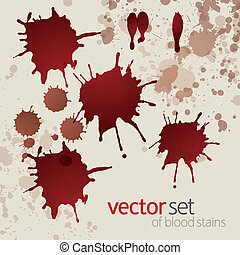 Splattered blood stains, set 3 - Splattered blood stains,...