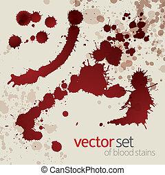 Splattered blood stains, set 4