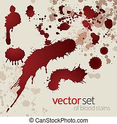 Splattered blood stains, set 8