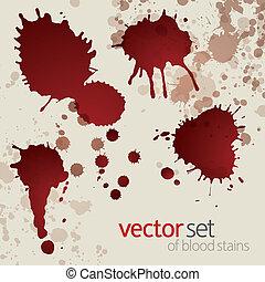Splattered blood stains, set 9