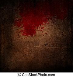 splatters, grunge, bloed, achtergrond