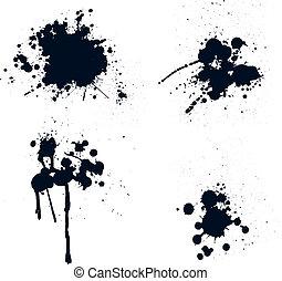 splatters, inkt
