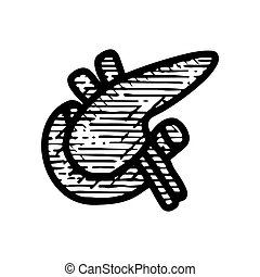 spleen icon hand drawn vector illustration isolated on white background