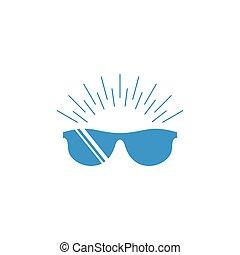 splendere, vettore, occhiali, fresco, nero, simbolo