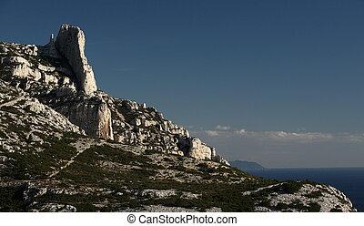Calanques - Splendid cliffs (Calanques) in southern France.