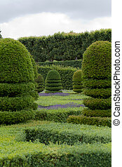 Splendid, decorative gardens at castles in the Valley of...