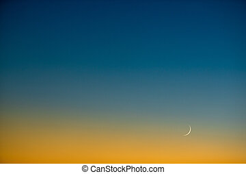 Splendid dusk/evening sky with the Moon