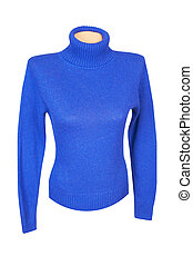 Splendid modern sweater on a white. - Wonderful blue sweater...